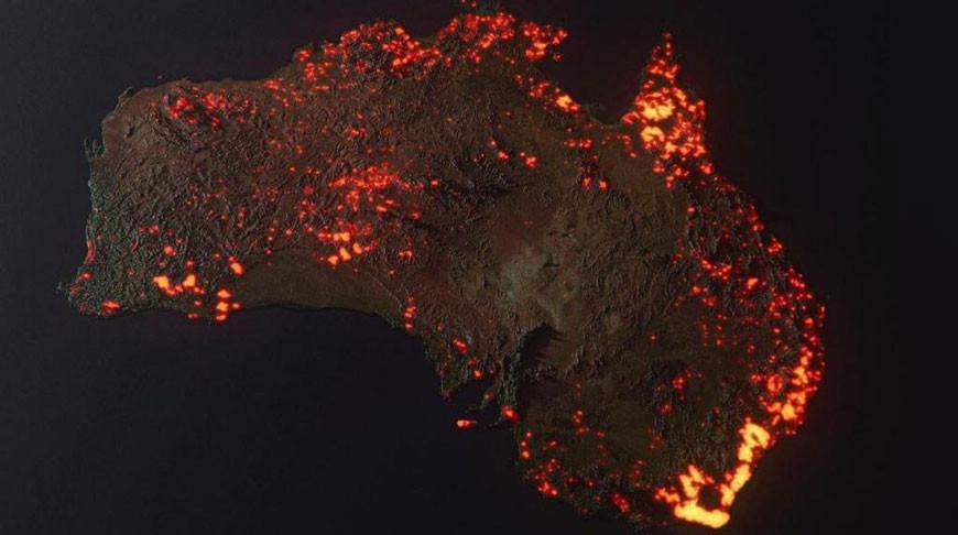 Дым от лесных пожаров в Австралии достиг Южной Америки