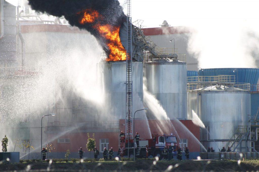 На целлюлозном заводе Светлогорского ЦКК пожар
